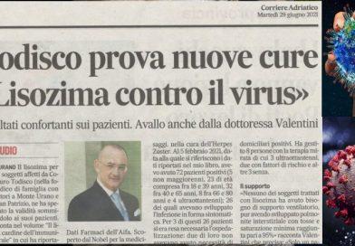 Il Dr. Todisco prova nuove cure: Lisozima contro il coronavirus